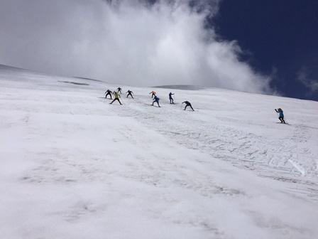 急坂練習の登り